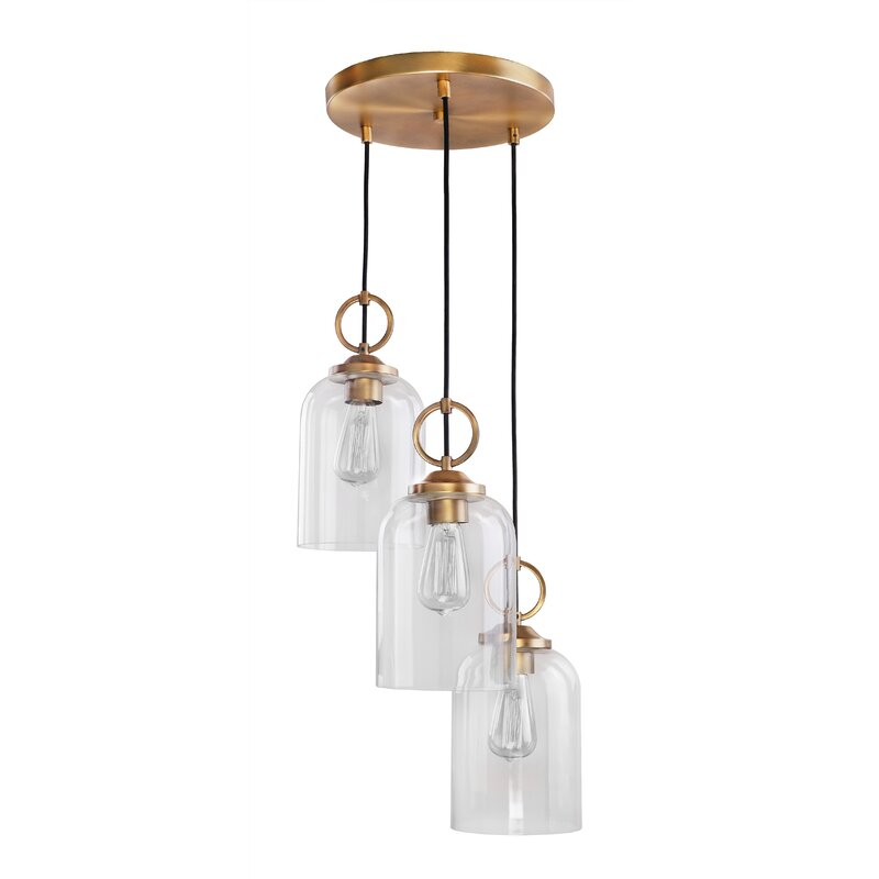 Corrigan Studio Whitton 3 Light Cluster Bell Pendant Wayfair