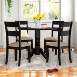 Montevia 5 Piece Drop Leaf Solid Wood Dining Set by Andover Mills™