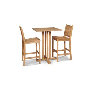 Crim 2 Piece Sunbrella Bar Height Dining Set with Cushions