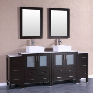 84 Double Bathroom Vanity Set with Mirror by Bosconi