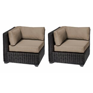 Mejia Patio Chair with Cushions (Set of 2)