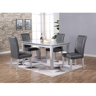Alberto 5 Piece Dining Set by Ebern Designs