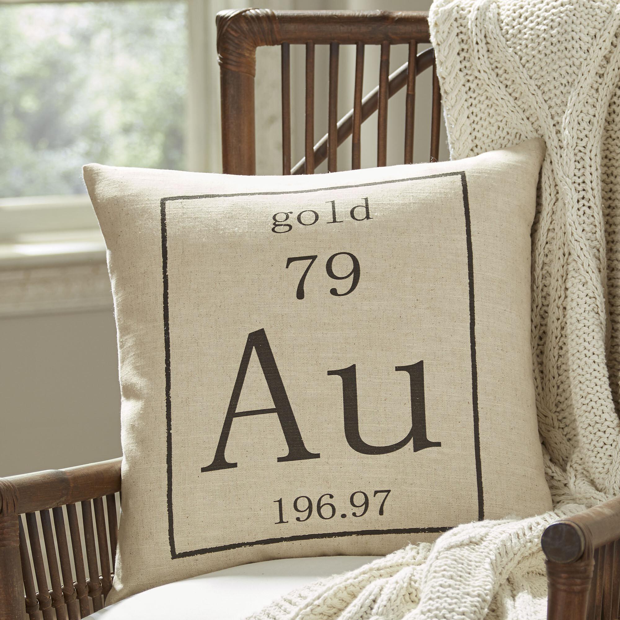 Williston Forge Asotin Gold Periodic Table Pillow Cover Reviews Wayfair
