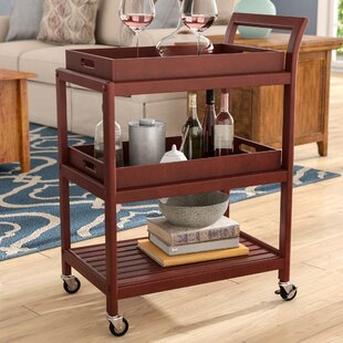 Adamsburg Entertainment Bar Cart by Alcott Hill