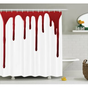 Find Bloody Halloween Zombie Crime Shower Curtain ByAmbesonne