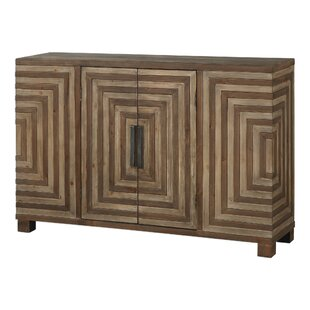 Cleo Geometric 2 Door Accent Cabinet by Bungalow Rose