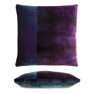 Color Block Velvet Throw Pillow