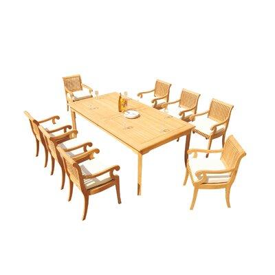 Massenburg 9 Piece Teak Dining Set by Rosecliff Heights No Copoun