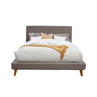 Streetsboro Splayed Legs Fabric Upholstered Platform Bed by Ivy Bronx