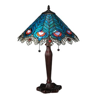 Peacock Feather Lace 23 Table Lamp