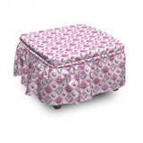 Baby Checkered Owls 2 Piece Box Cushion Ottoman Slipcover Set by East Urban Home