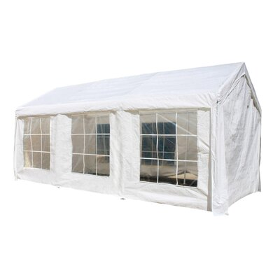 10 Ft. W x 20 Ft. D Metal Party Tent ALEKO