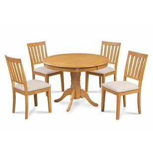 Cedarville Elegant 5 Piece Solid Wood Dining Set Alcott Hill