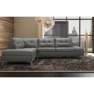 Grey Leather Sectionals You Ll Love In 2021 Wayfair