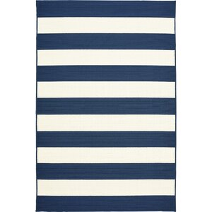Henley Stripe Navy/White Indoor/Outdoor Area Rug