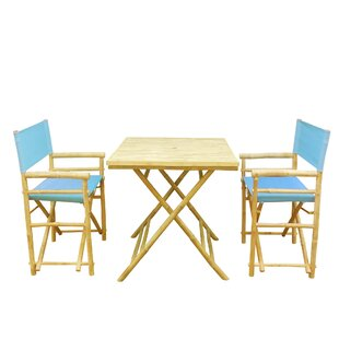 Petra Bamboo 3 Piece Bistro Set by Bay Is..