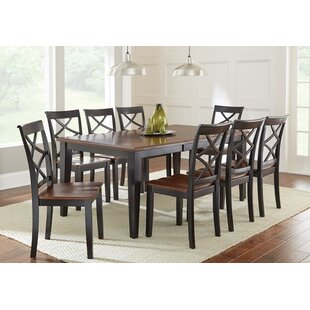 Rani 9 Piece Drop Leaf Solid Wood Dining Set Charlton Home