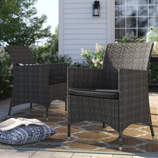 Brighton Deluxe Patio Dining Chair with Cushion (Set of 2)