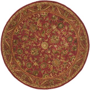 Dunbar Hand-Tufted Wool Red/Gold/Green Area Rug by Charlton Home