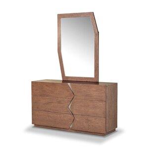 Havana 6 Drawer Dresser with Mirror by Wade Logan