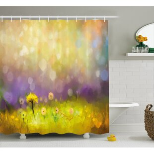 Wilma Pastel Floral Lawn And Hazy Shallow Depth Of Field Design Shower  Curtain
