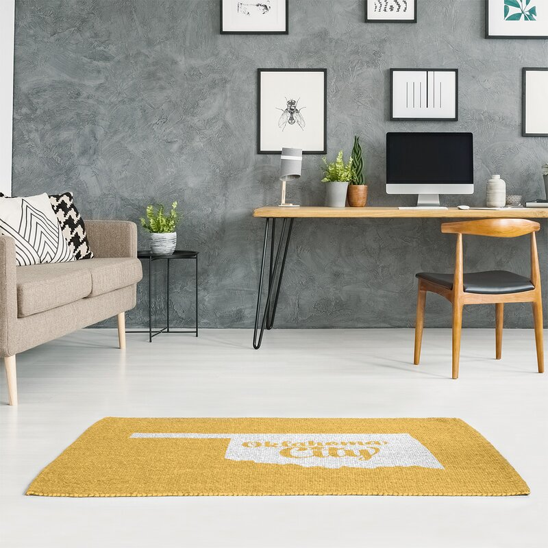 Oklahoma City Yellow Area Rug