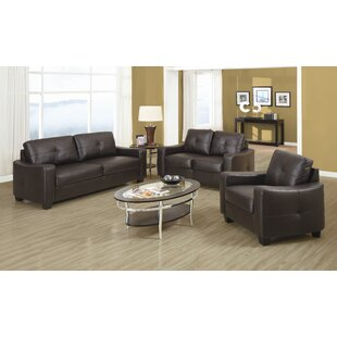 Reviews Rahr Leather Configurable Living Room Set by Red Barrel Studio Reviews (2019) & Buyer's Guide