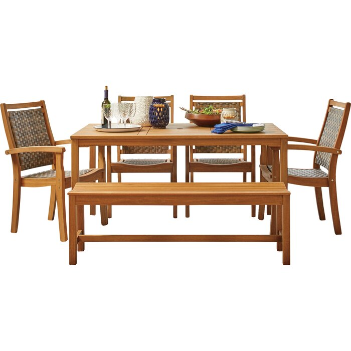 Tremendous Tovar Bench 3 Piece Dining Set Gmtry Best Dining Table And Chair Ideas Images Gmtryco