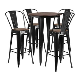 Muirhead Round 5 Piece Pub Table Set by Williston Forge