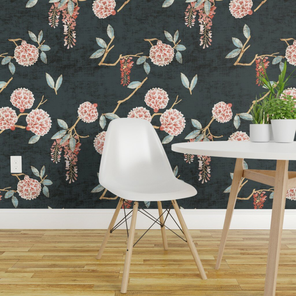 Bungalow Rose Tolentino Floral Wallpaper Panel Wayfair