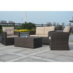 Dursley 4 Piece Sofa Set with Cushions