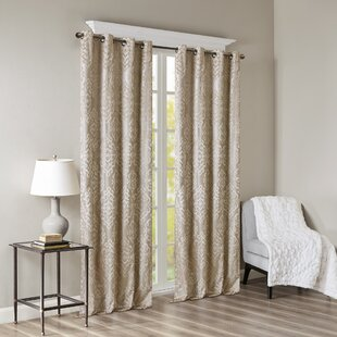Dora Damask Max Blackout Thermal Grommet Single Curtain Panel by House of Hampton