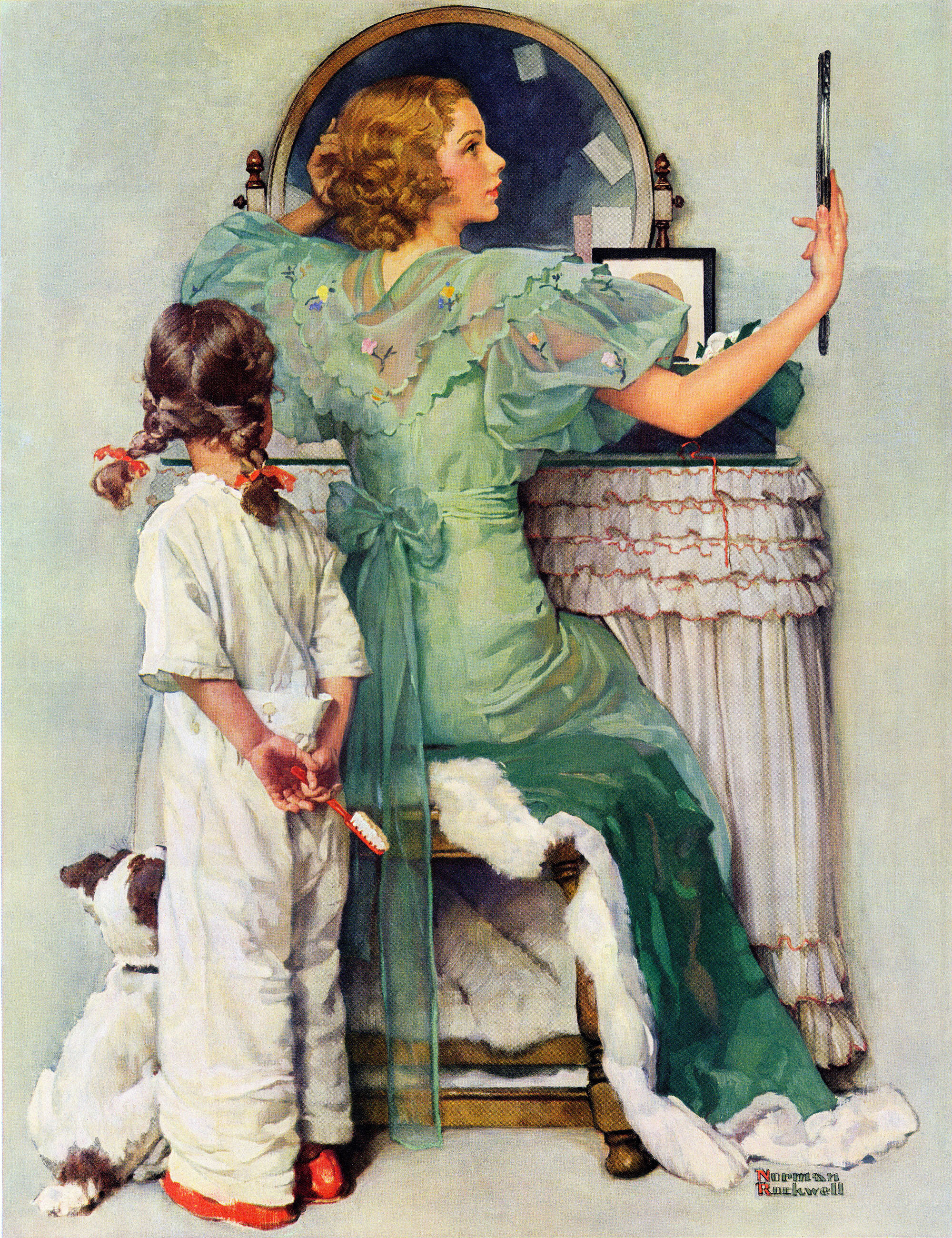 Marmont Hill \'Going Out\' by Norman Rockwell Painting Print on ...