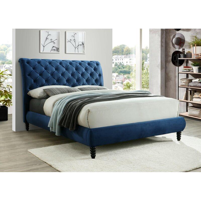 Red Barrel Studio Nicholes Upholstered Sleigh Bed Wayfair