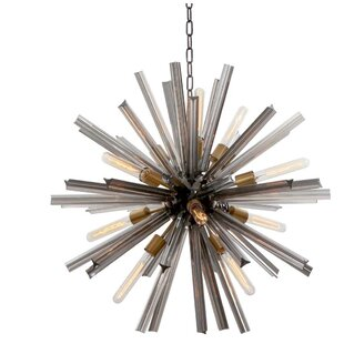 Viz Glass EOS 12-Light Sputnik Chandelier