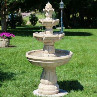 Durbin Fiberglass 3 Tier Water Fountain