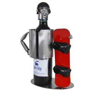 Snowboarder 1 Bottle Tabletop Wine Rack b..