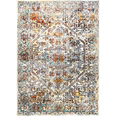 """Heritage Cotton Gray/Beige Area Rug Rug Size: Rectangle 5'2"""" x 7'2"""""""