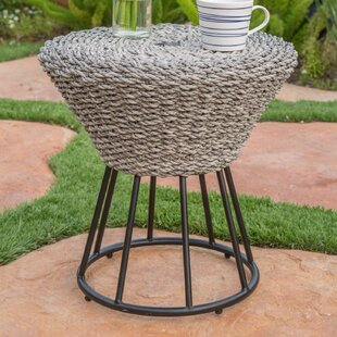 World Menagerie Fawnia Outdoor Wicker End Table