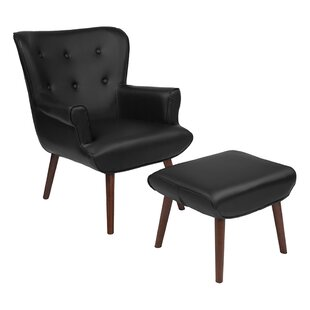 Ebern Designs Lytle Wingback Chair and Ottoman