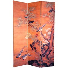 72 x 48 Christiane Double Sided Chinese 3 Panel Room Divider by World Menagerie