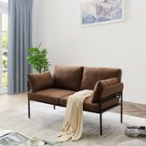 Pritt 59 Square Arm Loveseat by George Oliver