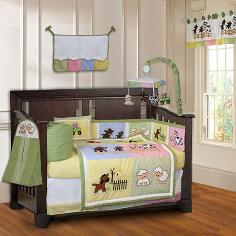 Harriet Bee Simpkins Barnyard Farm Baby 10 Piece Crib Bedding Set Reviews Wayfair