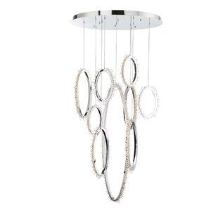 Sturm 9-Light LED Pendant by Orren Ellis