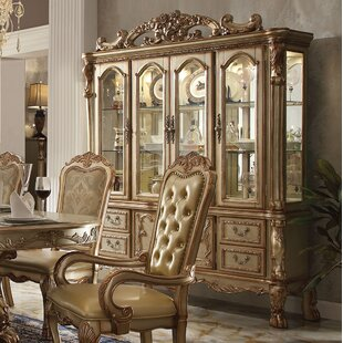 A&J Homes Studio Dresden Lighted China Cabinet