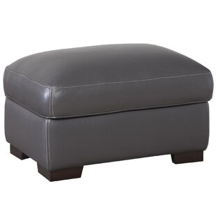 Latitude Run Hagan Storage Leather Ottoman