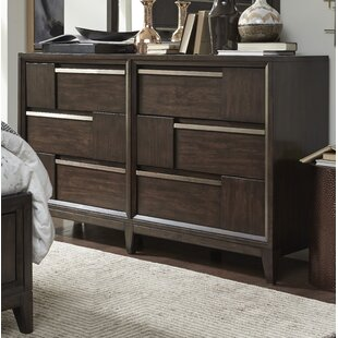 Swinton Wood 6 Drawer Double Dresser