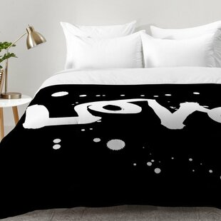Love Comforter Set by East Urban Home Cheap