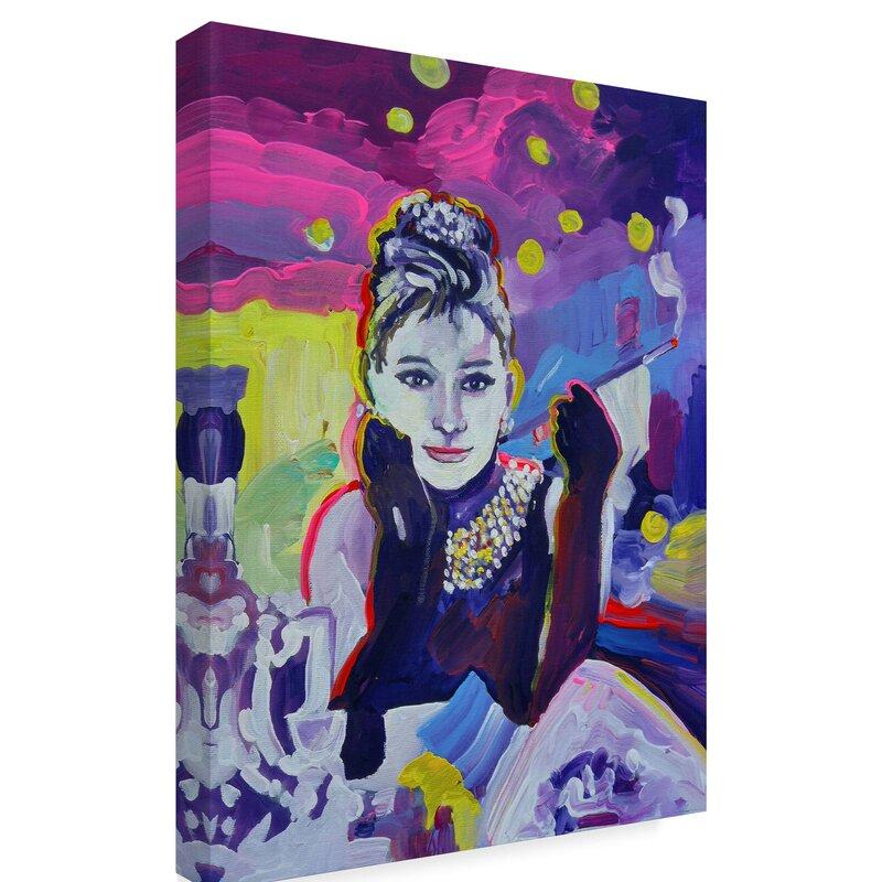 510d7305a Trademark Art 'Audrey Hepburn Tiffanys' Print on Wrapped Canvas ...