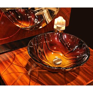 Novatto Rovente Glass Circular Vessel Bathroom Sink